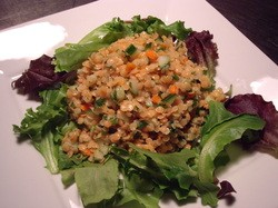 detoxifying red lentil salad