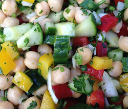 Chick Pea Cucumber Salad - © ProtectiveDiet.com