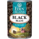 ProtectiveDiet.com Recommendation: Eden Organic Black Beans, No Salt Added, 15-Ounce Cans (Pack of 12)