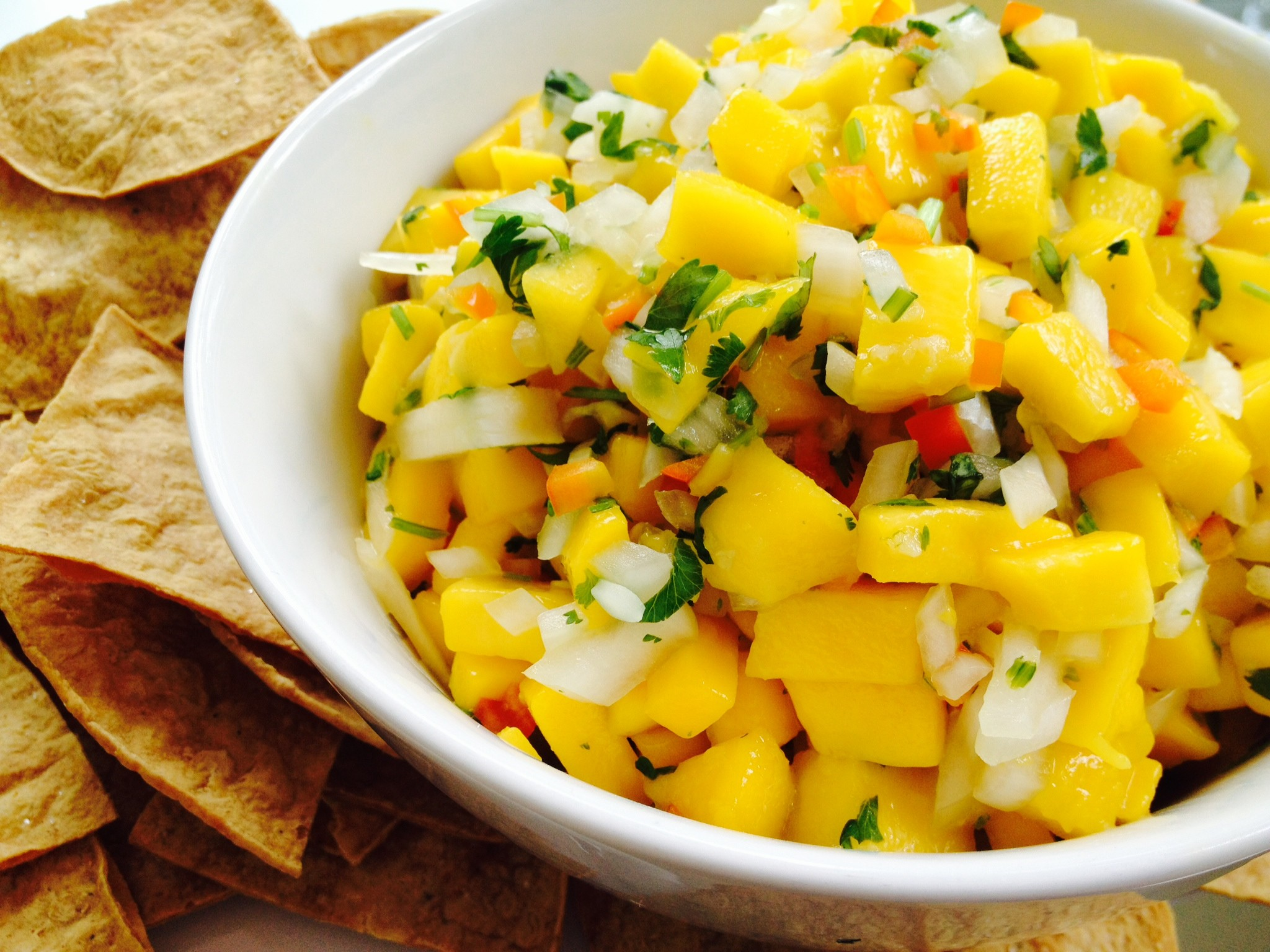 Lunch: Mango Salsa & Baked Tortilla Chips #ProtectiveDietStyle