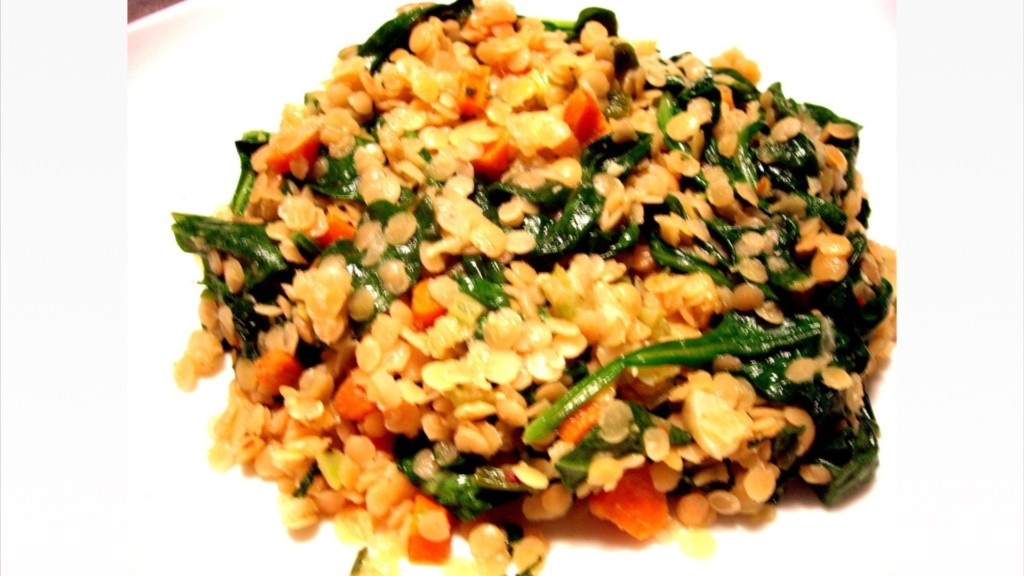 Red Lentils with Spinach and Roasted Garlic - © ProtectiveDiet.com