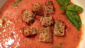 Rustic Roasted Tomato and Basil Soup - © ProtectiveDiet.com
