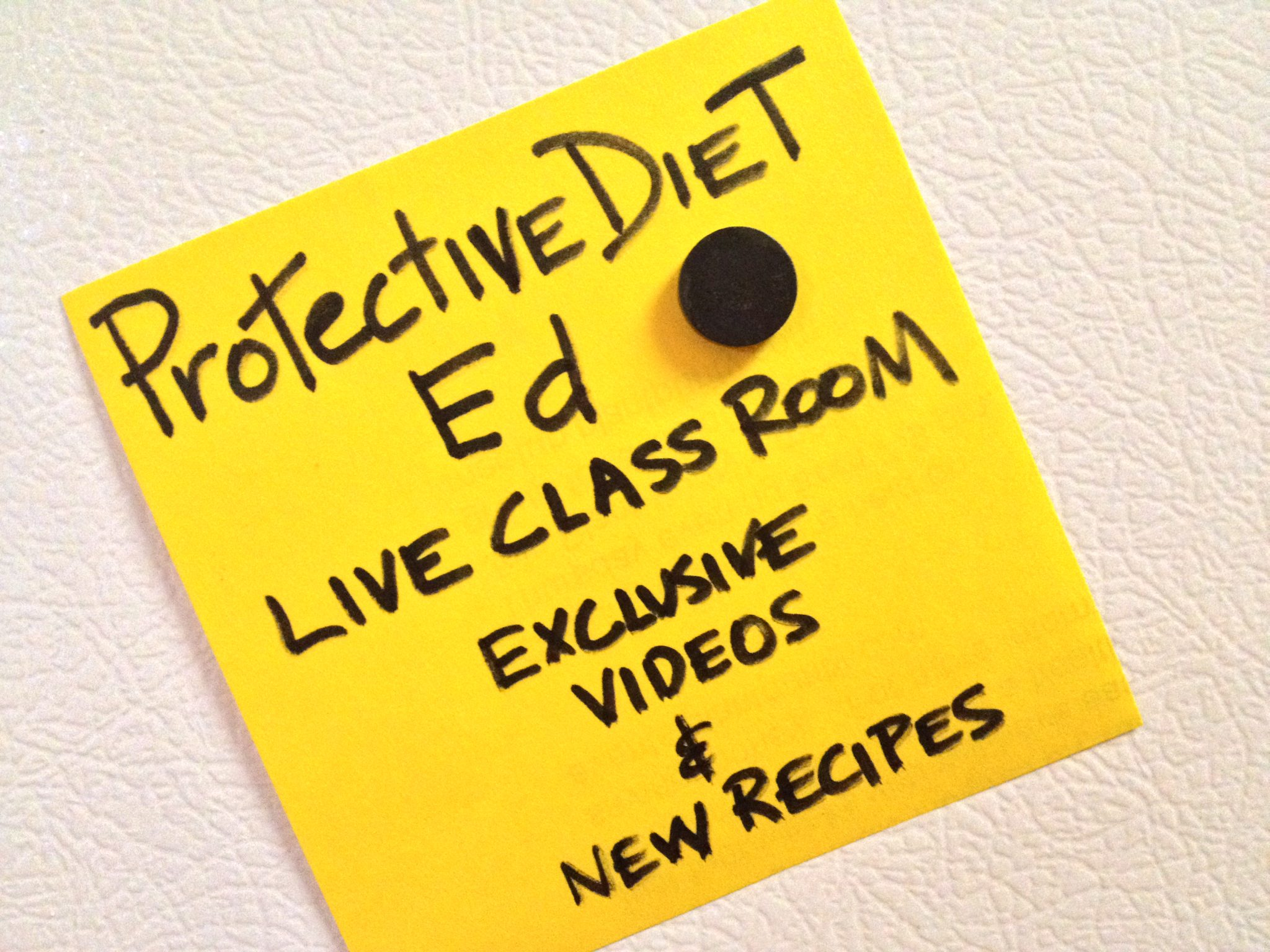 Protective Diet  Education and Premium PD Recipes