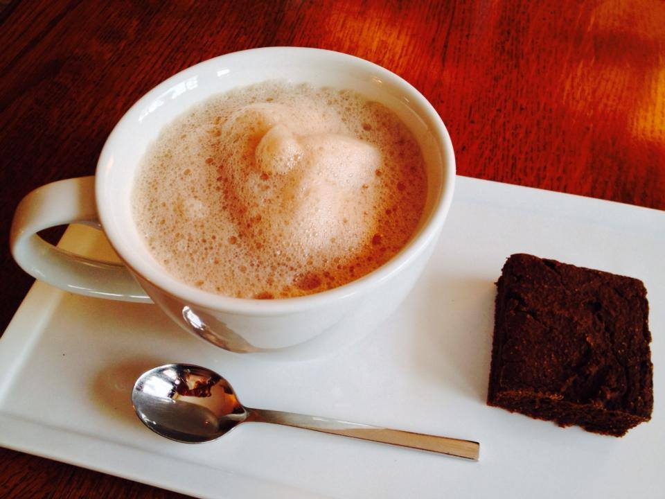 Still testing & perfecting the Breakfast Brownie… along with a Hot Cup of Caca…