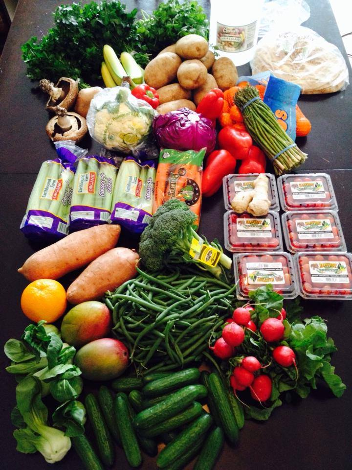 Weekly grocery budget for 2 active adults $70 a week.  Here I have spent $44.73…