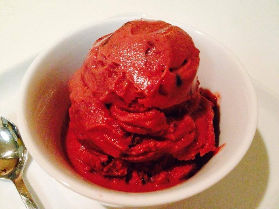 Guiltless Cherry Chocolate Chip Ice Cream in the test kitchen!  Make 2014 the he…