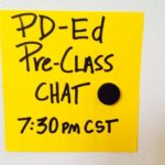 Pre Class Chat Tuesday 7:30 PM CST