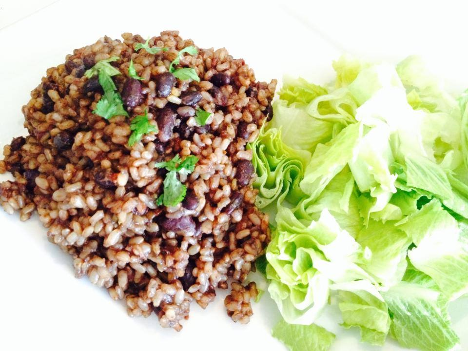 Oil free Dirty Rice & Beans – Serves 4 a delicious organic lunch for under $2.00