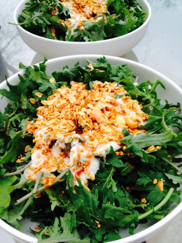 Lunch is served – Spicy Baby Kale Salad #ProtectiveDietStyle
