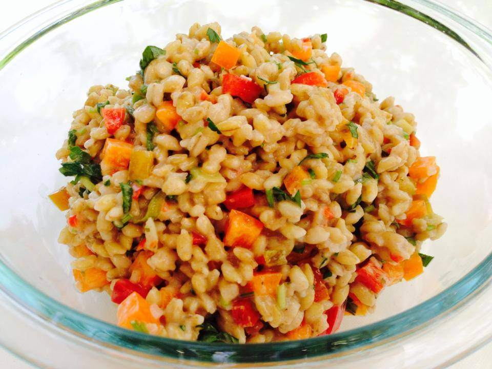 Barley Bell Pepper Salad recipe – coming soon to Http://protectivediet.com