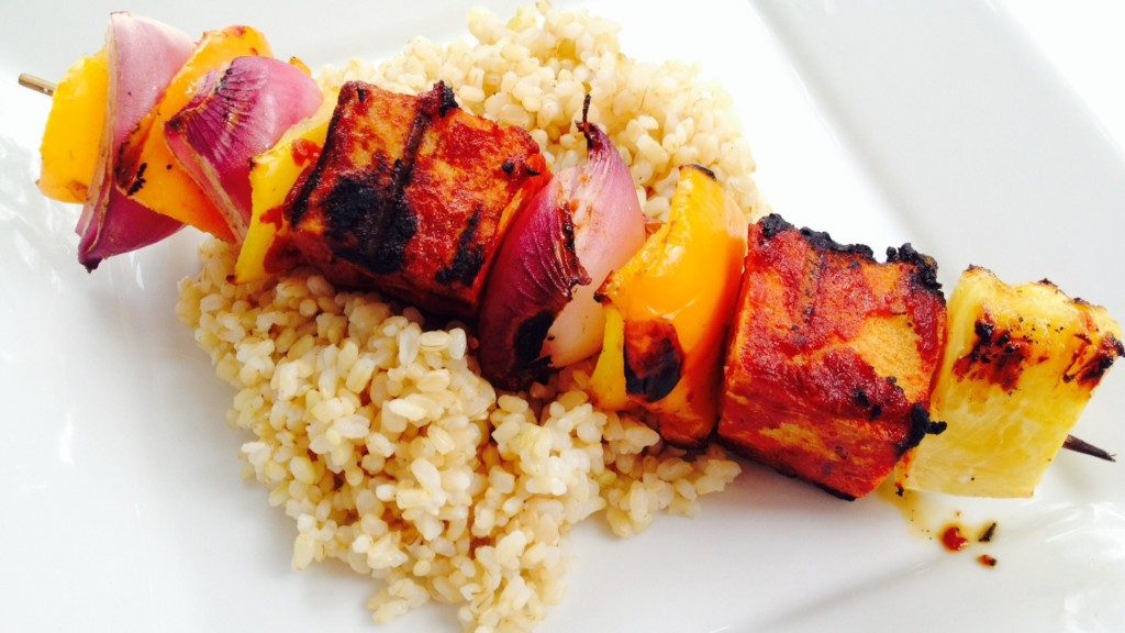 BBQ Tofu Kebabs - © ProtectiveDiet.com