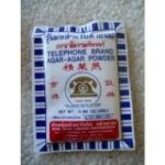 Protective Diet Recommendation: Telephone Brand Agar- Agar Powder - Product of Thailand 5x 0.88 Oz.