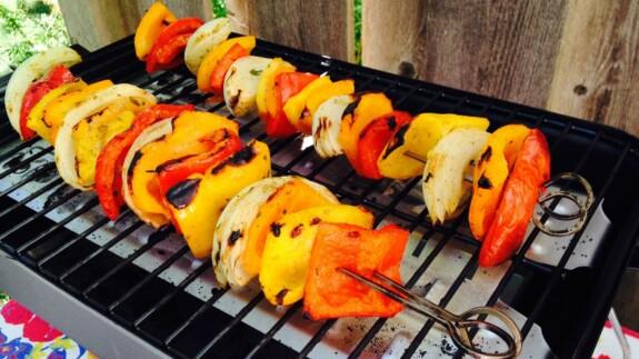 Veggie Kebabas - © ProtectiveDiet.com