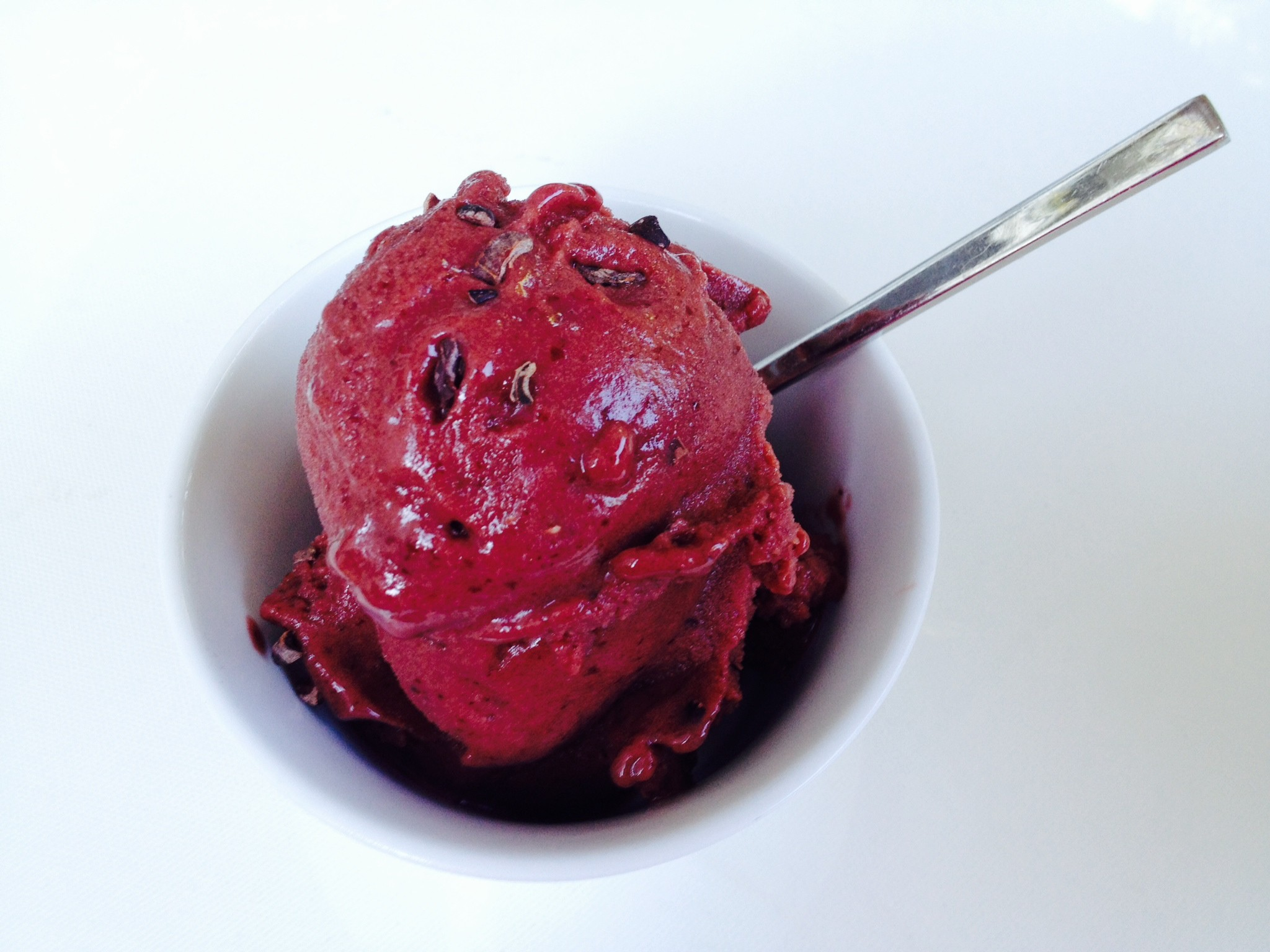Cherry Ice Cream With Chocolate Chips Recipe — Dishmaps