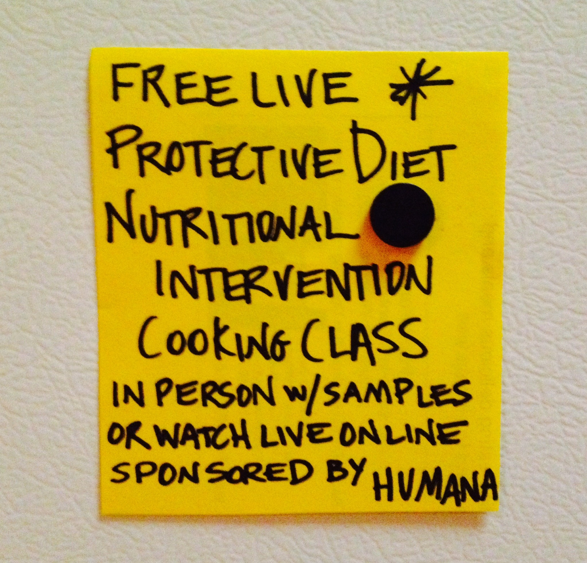 September 17 - Nutritional Intervention Cooking Class sponsored by Humana