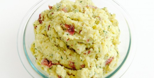 Onion Herb Smashed Potatoes - © ProtectiveDiet.com