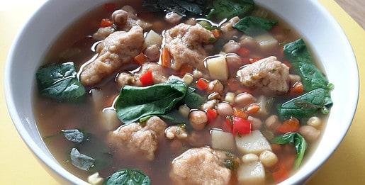 Veggie Soup & Dumplings - © ProtectiveDiet.com